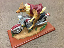 Texas A&M Aggies Reveille Wildthang on a Harley mascot figurine GIG EM