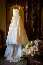 Stunning A-Line Cathedral length White Wedding dress size 6-10/12