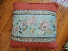 French Rose Baroque Style Jacquard Cushion Cover 45cm D