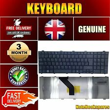 Keyboard for FUJITSU SIEMENS LIFEBOOK AH530/GFX with UK Layout Black