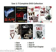 SAW COMPLETE MOVIE COLLECTION DVD PART 1 2 3 4 5 6 7 SET All Films Sealed Box UK