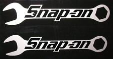 "Snap On Wrenches HQ Vinyl Sticker Decals! Black on Silver Met! 6""x1.2"" / 2! em"