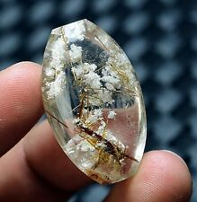 70ct Rare NATURAL Clear ghost  copper  RUTILATED Crystal Pendant Polished