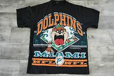 NWOT Vintage 1992 Miami Dolphins Looney Tunes Taz Large T-shirt