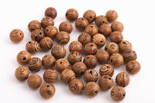 100 Pieces Wenge Wood beads charms necklace Bracelet finding 8mm