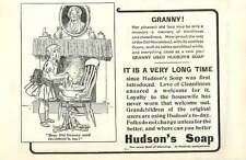 1909 Dear Old Granny Used Hudsons Soap Also Ad