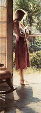 "Steve Hanks (1949-2015), ""Senesa & the Cat"", matted print,14""h x 8.18""w overall"