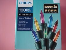PHILIPS CHRISTMAS MINI STRING LIGHTS REMAINS LIT MULTI COLOR 100 LIGHTS NEW