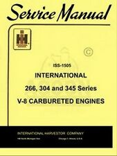 International UV UV266 UV304 UV345 Power 266 304 345 V8 Engine Service Manual IH