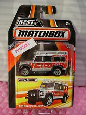 2016 MATCHBOX Best of World LAND ROVER DEFENDER 110☆Gray/Red;AMBULANCE ☆mb838