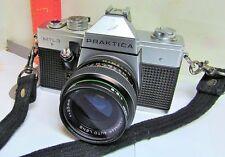 Pentacon PRAKTICA MTL3 SILVER Camera Hanimar 1:2.8 f=35mm lens Hoya Fltr VINTAGE