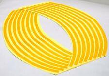"""Gold Reflective Rim Tape for Motorcycle Car Truck 17"""" 16 Adhesive Strips 4 Tires"""