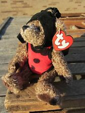 "TY Beanie Baby BUGSY BEAR lady bug outfit approx 6"" sitting 9"" long 1993"