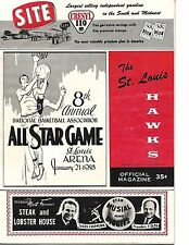 1957-58 NBA All Star Game Program @ St. Louis East Tops West RARE!!