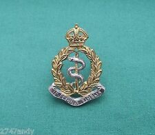 """Royal Army Medical Corps c.1950 Officer """"S&G"""" Genuine British Military Cap Badge"""