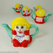 Red Rose Tea (Canada) Miniature Teapot - 1996/99 - Set 3 Toy Chest - Rag Doll