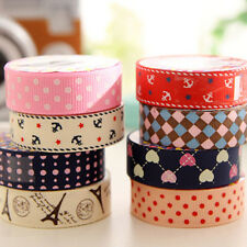 Hottest Fabric Scrapbooking  DIY Sticky Adhesive Sticker Decorative Washi Tapes