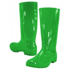 WOMEN RUBBER RAIN BOOTS CHOICE OF BLACK BLUE GRAY GREEN RED YELLOW 5 6 7 8 9 10