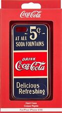 Antiguo oficial de la marca Coca Cola 5 centavos V Funda Dura Para Apple iPhone 5S SE