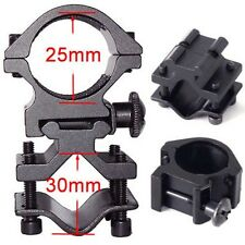 "UNIVERSAL QD BARREL MOUNT RING 1"" FOR FLASHLIGHT LIGHT SCOPE GUN RIFLE SHOTGUN #"