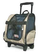 Snoozer Wheel Roll Around Dog Carrier Car Seat Backpack Bed 4-in-1 Khaki Medium