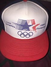 Vntg Official 1984 Los Angeles USA Olympics Snapback Mesh Trucker Hat Cap
