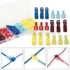 New 120Pcs Quick Splice Insulated Wire Crimp Terminal & Male Spade Connector Kit