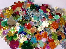 100 FLOWER SEQUINS * ASSORTED COLOURS, SIZES * CRAFTS * TABLE DECOR ETC.