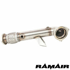 """Ramair Decat Downpipe 3"""" system - Fiesta ST180 1.6t turbo exhaust test race pipe"""
