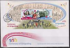 GB - Isle of Man 2010 100th Anniversary of Girl Guides Mini-Sheet SG MS1583 FDC