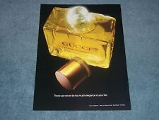 "1981 Gucci Pour Homme Vintage Cologne Ad ""There Can Never be too Much...."""
