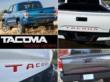 RED TOYOTA TACOMA 16 TAILGATE LETTERS NOT DECALS TAILGATE REAR INSERTS 2016