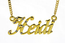 18K Gold Plated Necklace With Name HEIDI - Accessories Necless Designer Gifts