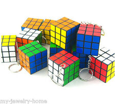 Popular Rubik's Cube Puzzle Magic Game Fashion Key Chain Key Ring
