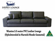 Brand New - AUS MADE Winston 3.5 seater PVC Leather Lounge Sofa Couch