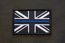 Thin Blue Line Union Flag Patch Police UK Great Britain CO19 Blue Berets VELCRO®