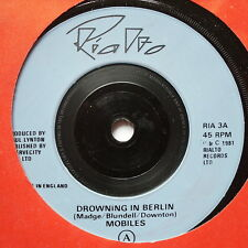 """MOBILES - Drowning In Berlin - Excellent Condition 7"""" Single Rialto RIA 3"""