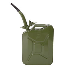 New Jerry Can Gas Fuel Can Emergency Backup Gas Caddy Tank 5 Gal 20L Army Green
