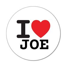 I love JOE - Aufkleber Sticker Decal - 6cm