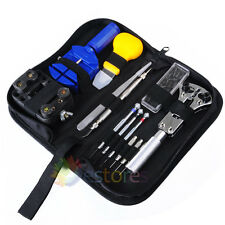 28pcs Watch Repair Tool kit Carry Case Spring bar Pin Remover Holder Opener Set
