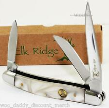 Elk Ridge Mother Of Pearl 3 Blade Hunting Camping Folding Pocket Knife NEW