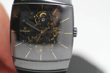 Mens Rado Diastar XXL Sintra Automatic Skeleton Watch Ceramic Bracelet 21 Jewel
