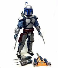 "STAR WARS 12"" 1/6th scale Ulitmate JANGO FETT hasbro action figure VERY NICE!"