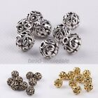 Charm 10Pcs Tibetan silver Round Shaped Hollow Spacer Bead Findings