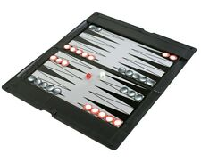 NEW TRAVEL GAME BACKGAMMON MAGNETIC BOARD WITH DICE & METAL PIECES RY461