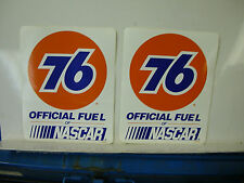 VINTAGE 76 RACING FUEL UNOCAL NASCAR RACING DECAL STICKERS Pack of 2