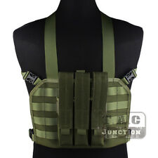 Emerson Tactical High Speed Operator MOLLE Chest Rig Vest w/ SMG Magazine Pouch