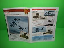 FOKKER C.V AIRCRAFT FACTS CARD AIRPLANE BOOK 97
