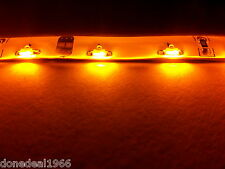 AMBER PC MODDING SINGLE 20CM STRIP 3 PIN CONNECTOR MOBO BACKLIGHT CASE LED STRIP