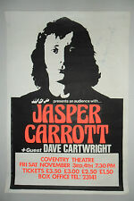 JASPER CARROT - Hand Signed - Original Promotional Concert Poster COVENTRY 1978